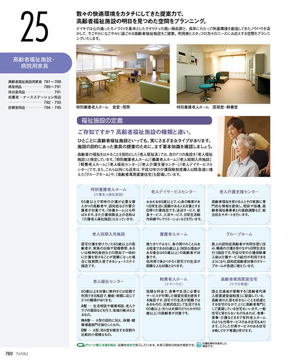 高齢者福祉施設・病院用家具
